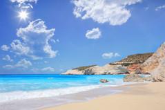 beach ionian lefkada ionian sea greece c
