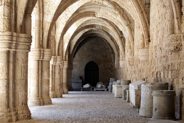 eastern aegean rhodes castle arches copy