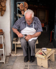 greece shoe maker local traditional art