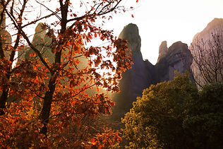 meteora central greece day mountain fall