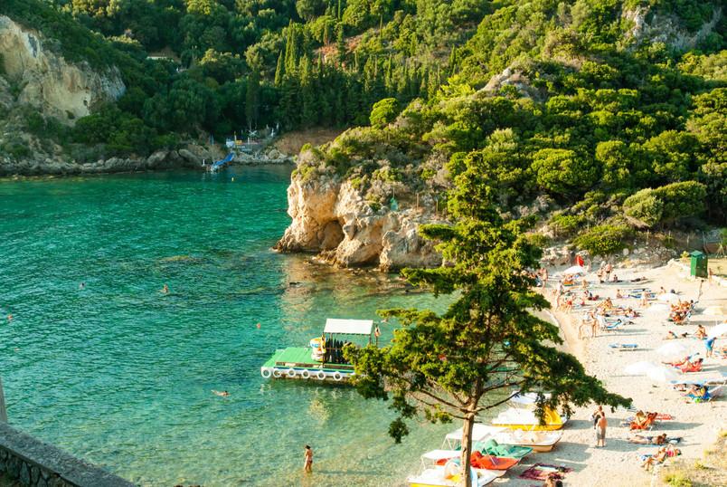 corfu ionian paleokastritsa day beach gr