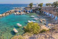 milos cyclades fisherman village aegean