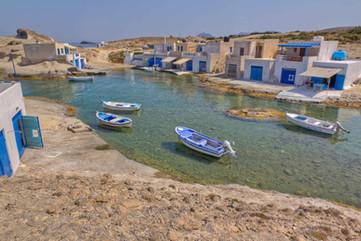 milos fisherman village cyclades aegean