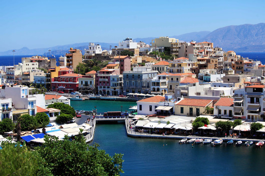 crete ag. nikolaos town bridge sea  copy