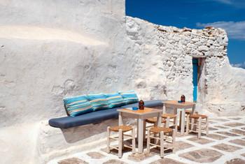 cafe cyclades greece mykonos aegean copy