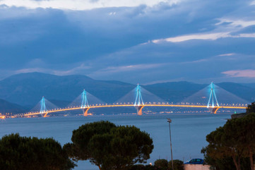 bridge rion antirion patra greece road t