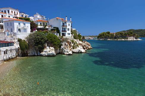 skiathos greece sporades sea aegean  cop