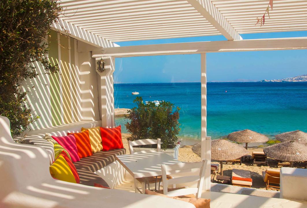 restaurant greece aegean cyclades beach