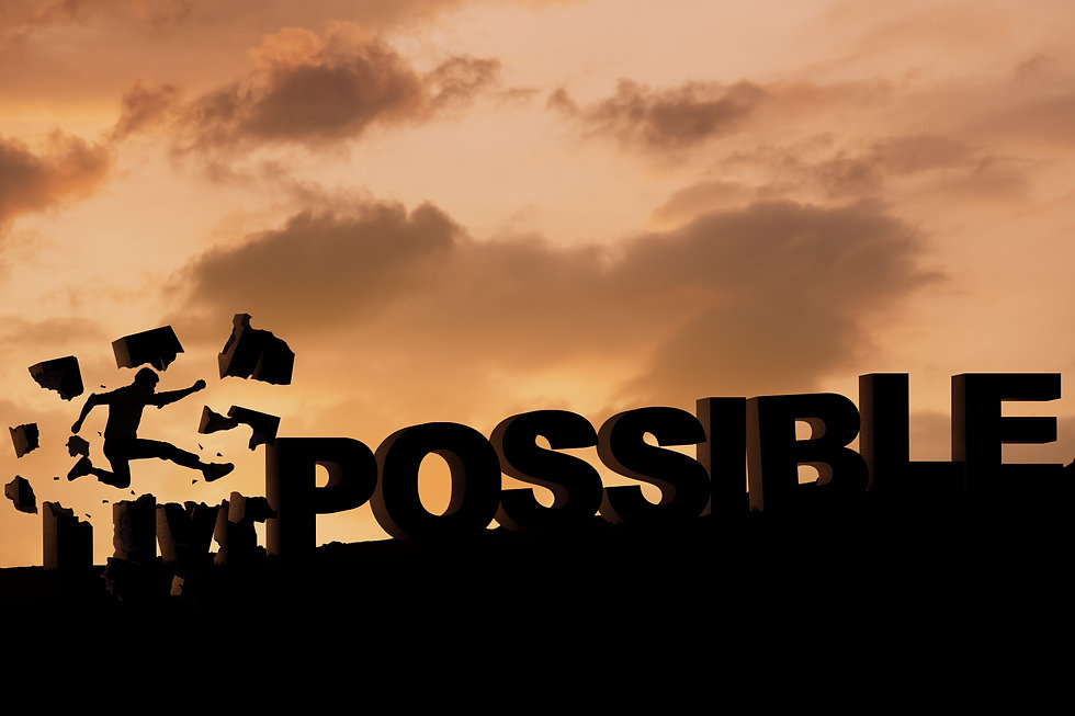 impossible to possible concept, Impossible big font, business achievement concept.jpg