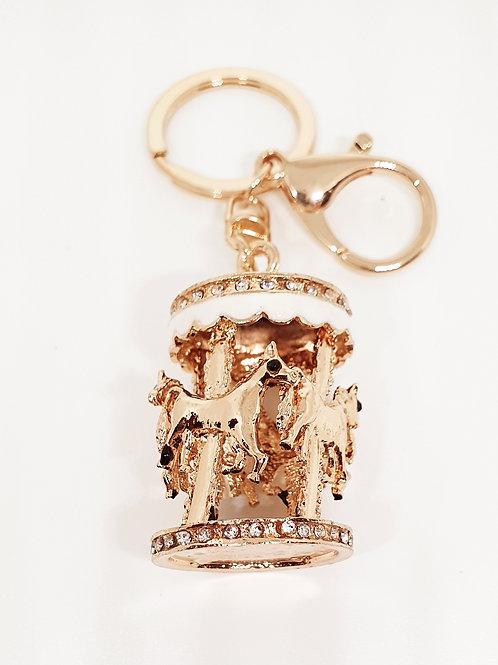 Horse Carousel Bag Charm & Key Chain