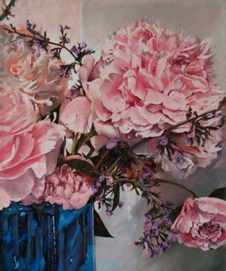 Maryann-Mullett-Peonies-with-Blue-Vase.j