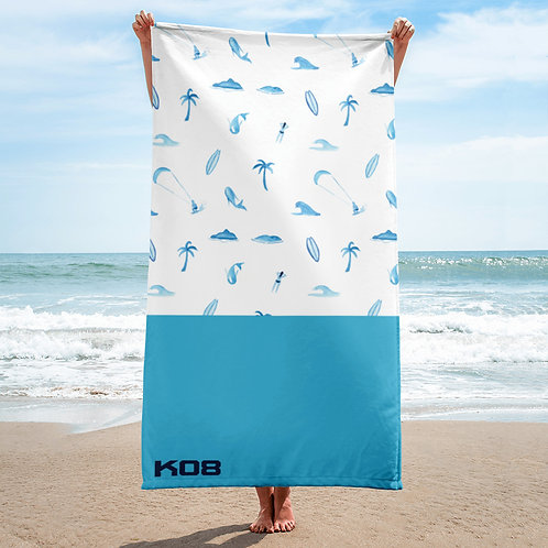 Beach navy towel
