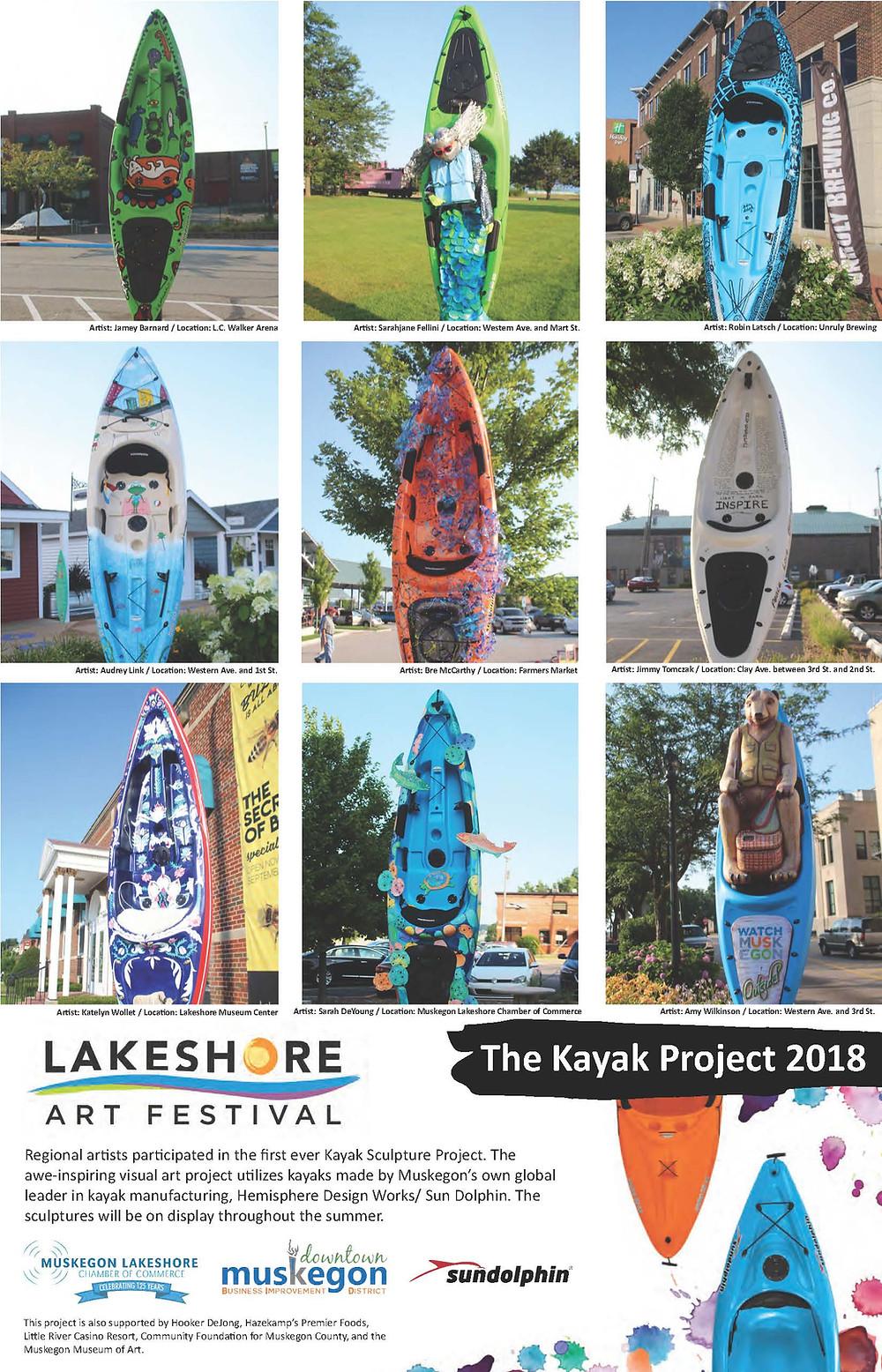 Lakeshore Art Festival Kayak Project 2018