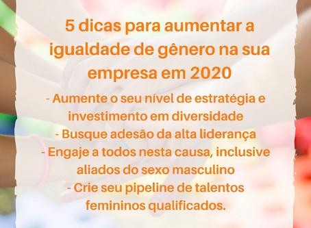 Dicas para aumentar a igualdade de gênero na sua empresa