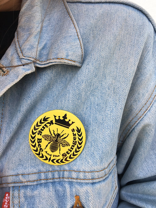 King Bee Logo Button