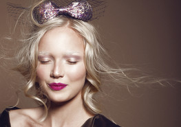Girl with Glitter Bow