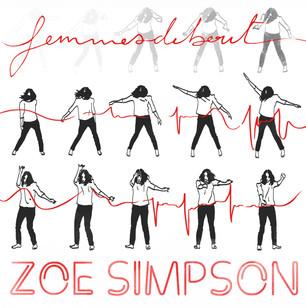 Couverture conçue pour l'album Femmes debout de Zoé Simpson