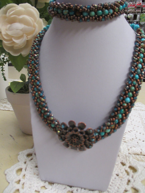 Natural Turquoise & Copper Necklace