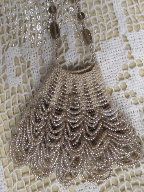 """Lacey"" Beaded Knit Amulet Purse Pattern"