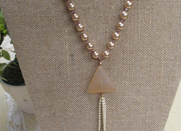 Designer Glass Pearl Necklace