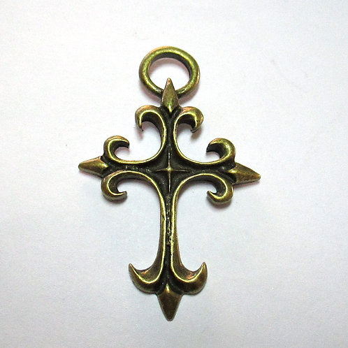 Large Brass Cross