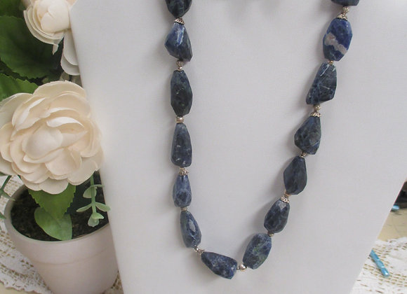 Chunky Sodalite Necklace and Earring Set