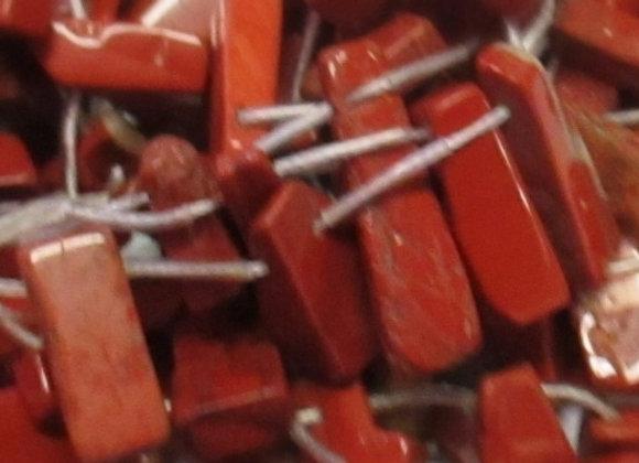 8 x 10 - 12mm Points Red Jasper GE19