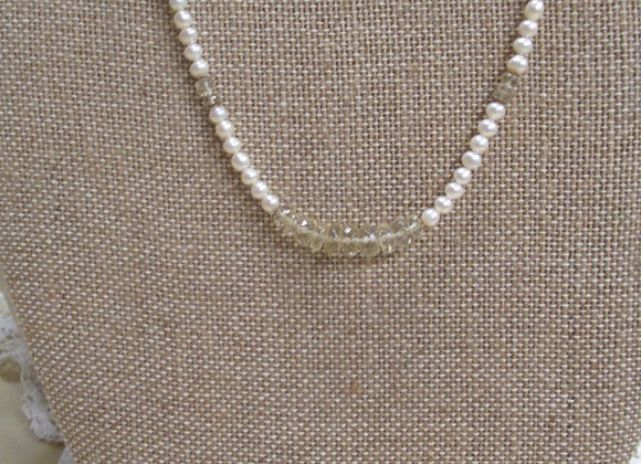 Citrine & Freshwater Pearl Necklace