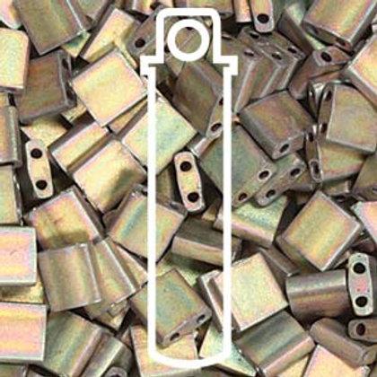 Tila Beads -Matte Metallic Kaki Iris