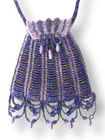 Beaded Knit Coin Purse Pattern - Pinstripes