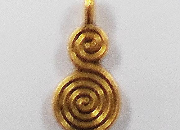 Gold Spiral Drop