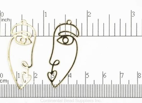 Wire Face Charm Pendant