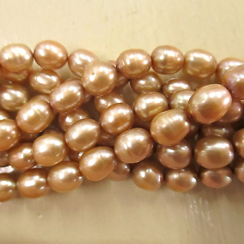 FWP321 Gold 7 x 8mm Oval
