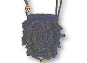 Beaded Knit Amulet Purse Pattern - Porcupine