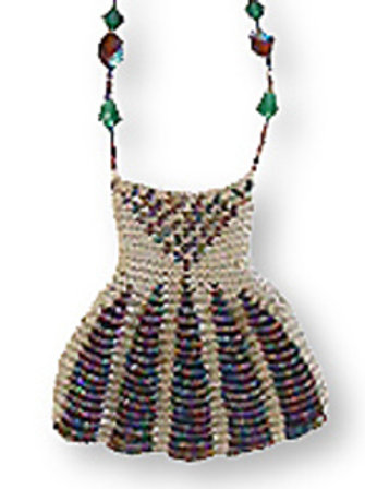 """The Dress"" Beaded Knit Amulet Purse Pattern"