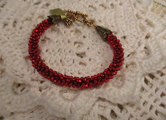 Ruby Kumihimo Bracelet