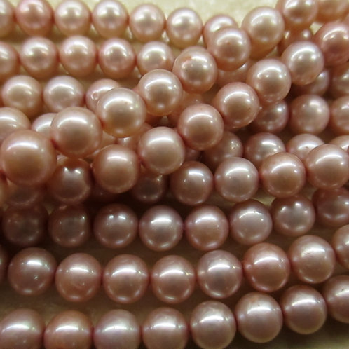 FWP18 Rose Peach 6mm oval