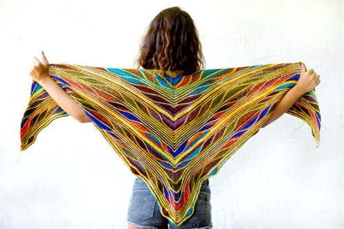 Papillon (Butterfly) Shawl Kit