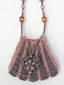 """Simply Lovely"" Beaded Knit Amulet Purse Pattern"