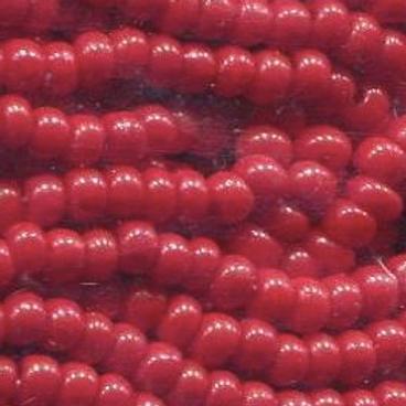 Size 11 Czech #107 Opaque Red