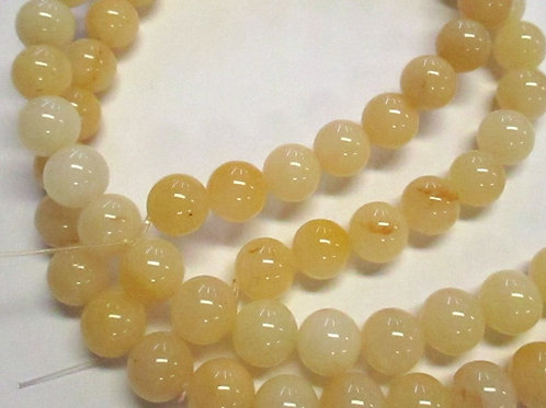 6mm round Honey Jade GE02