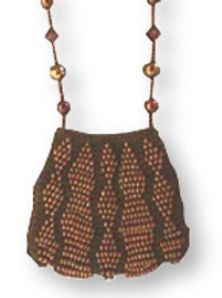 Beaded Knit Amulet Purse Patterns - Zig Zag