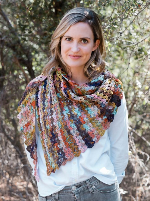 """Perris"" Crochet Shawl Kit by Louisa Harding"