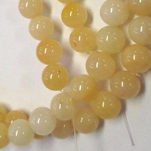 8mm Round Honey Jade GE03