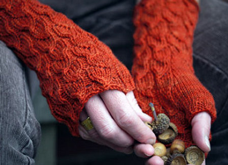 Cabled Knit Handwarmers
