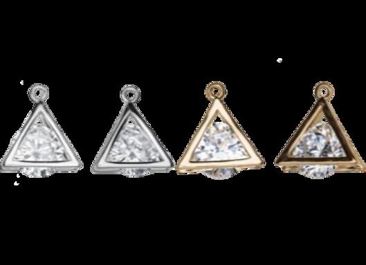 Cubic Zirconia Triangle Pendant