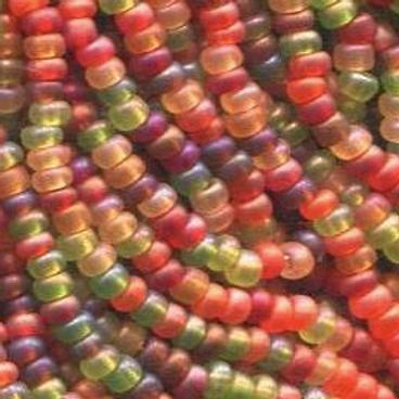 Size 11 Czech #1032 Fall Harvest Mix Matte Rainbow