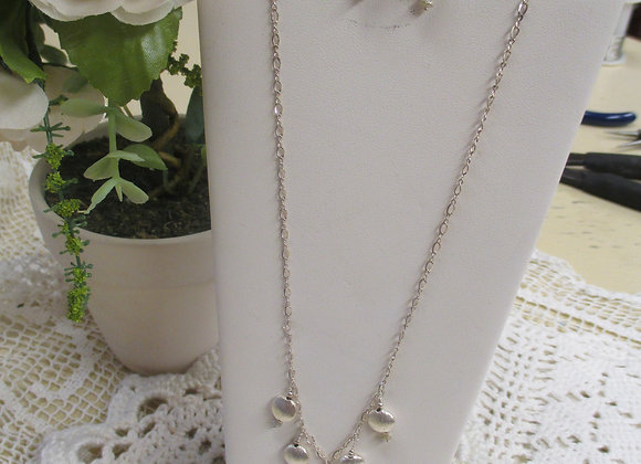 Raw Diamond and Sterling Necklace & Earrings