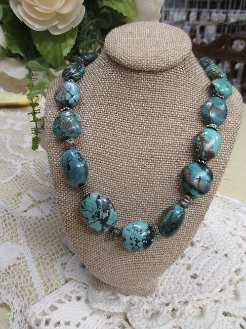 Chunky Natural Turquoise Necklace