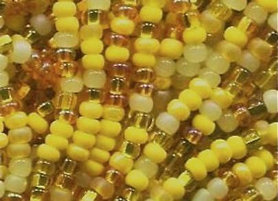 Size 11 Czech #1106 Yellow Daffodil Mix
